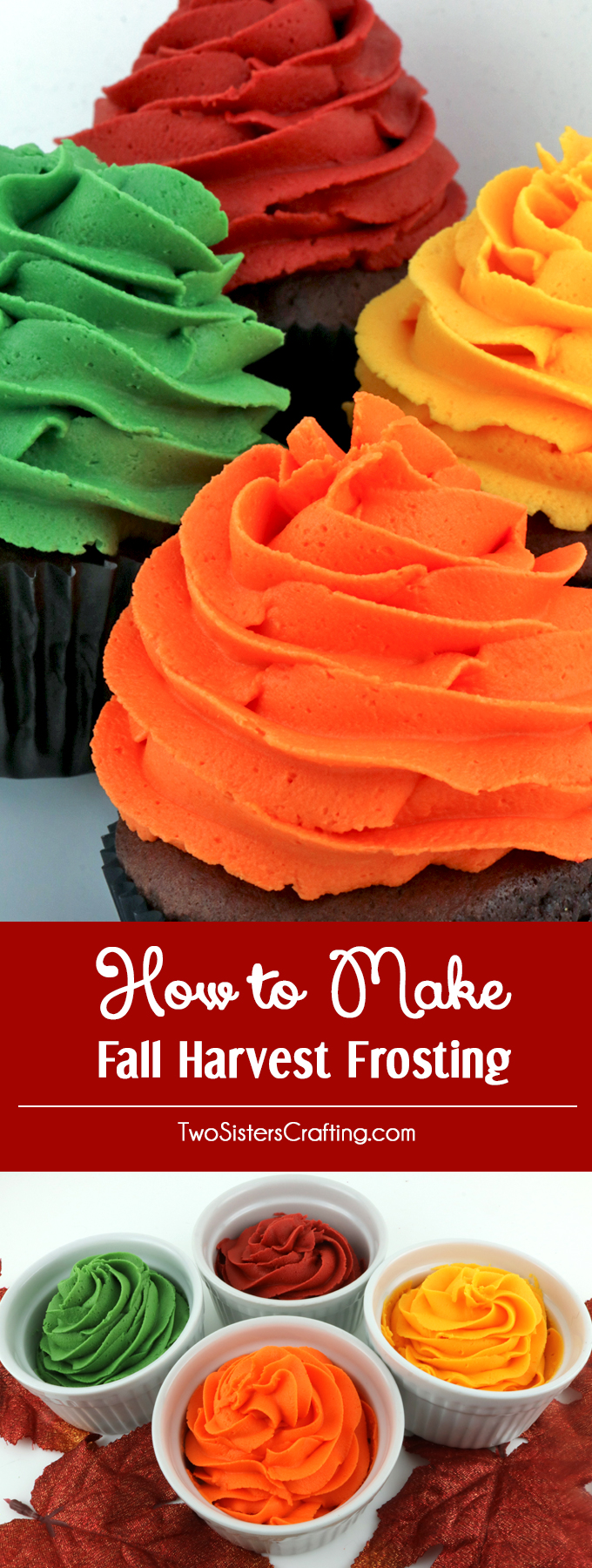 how to make fall harvest frosting two sisters