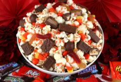 Left-Over Halloween Candy Popcorn