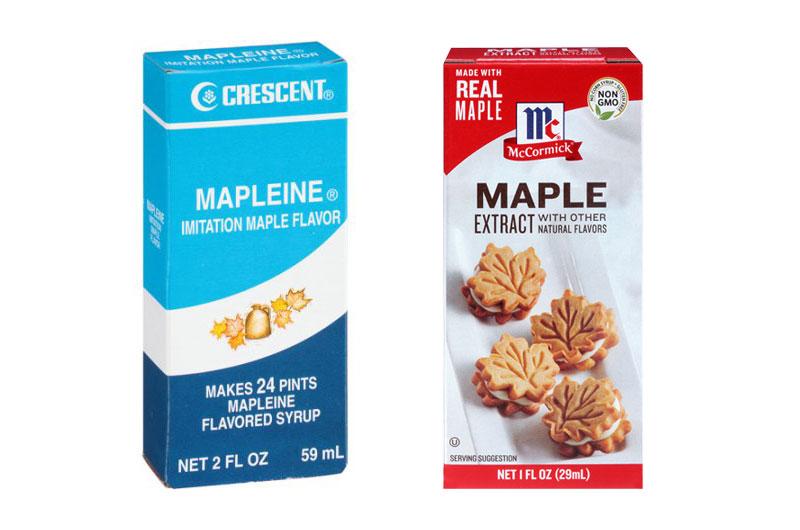 Mapleine vs Maple Extract