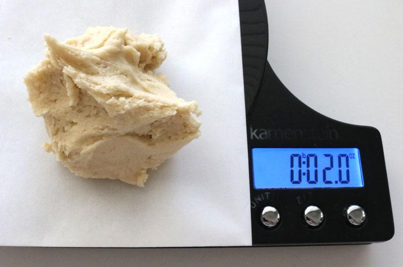 Measuring cookie dough