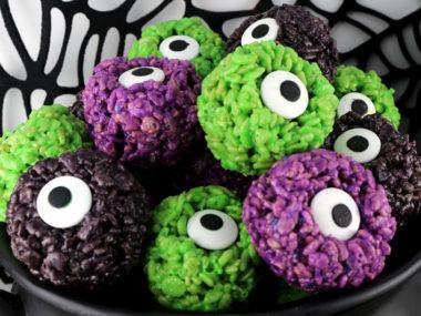 Monster Eye Balls Rice Krispie Bites