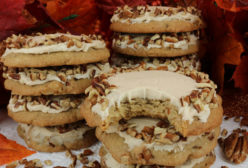 Pecan Cookies with Maple Buttercream Frosting