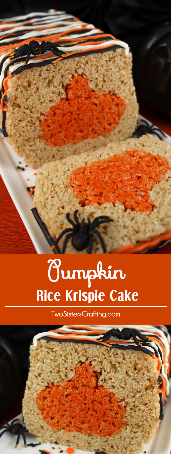 pumpkin rice krispie cake adorable delicious and fun this lovely halloween dessert will