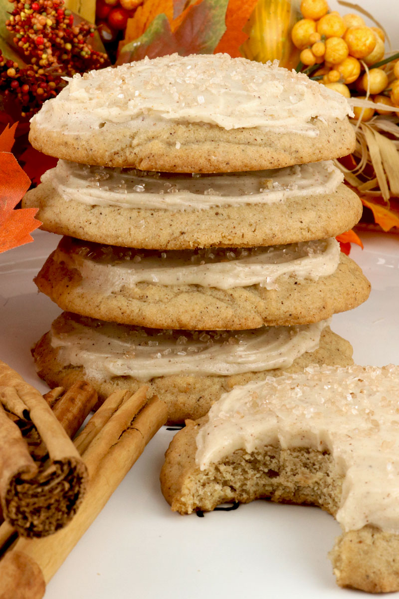 Spice Cookies With Cinnamon Cream Cheese Frosting Two