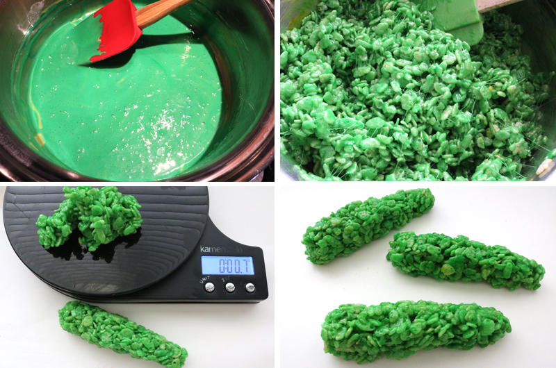 How to Make Witch Finger Rice Krispie Treats
