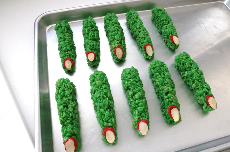 Witch Fingers Rice Krispie Treats