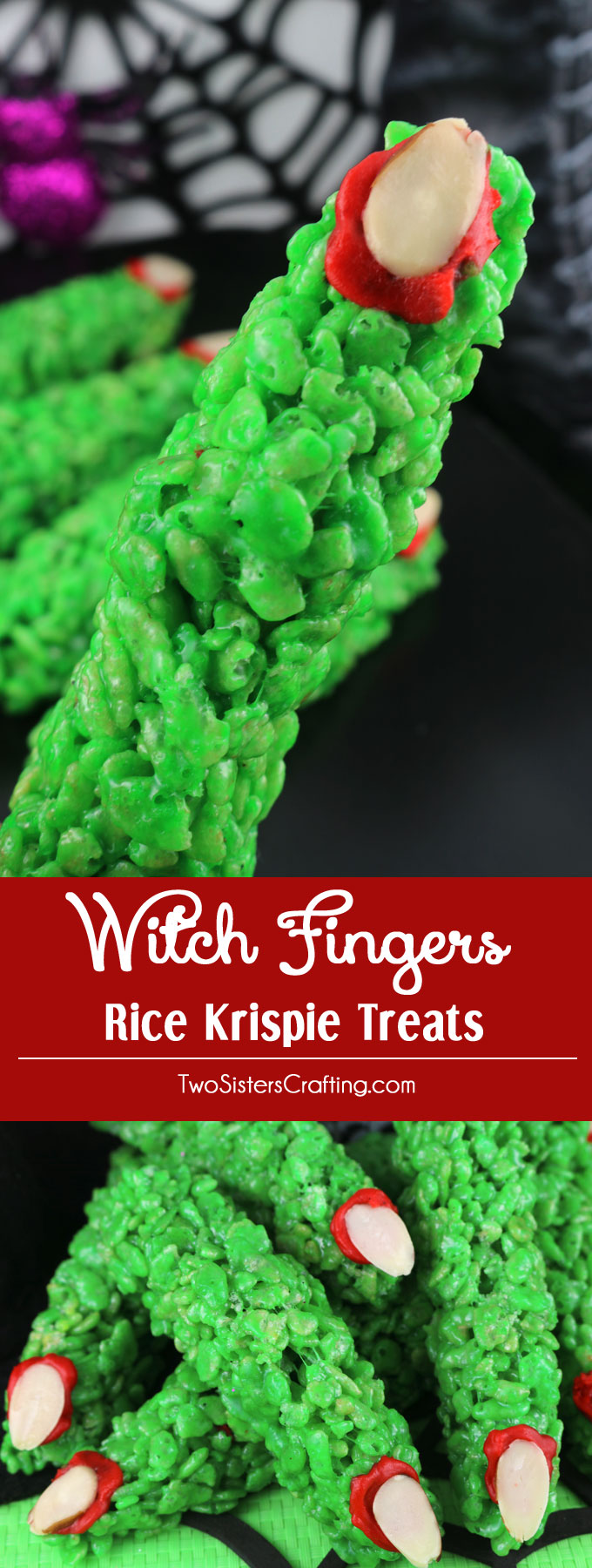 Witch Fingers Rice Krispie Treats - Two Sisters