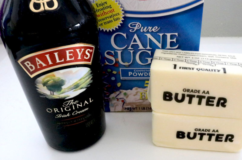 Ingredients for Baileys Irish Cream Buttercream Frosting
