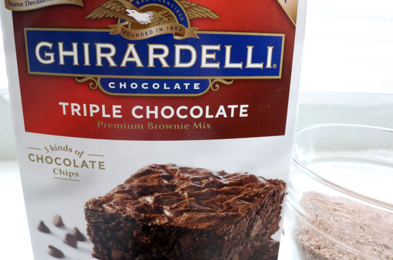 Ghirardelli Brownie Mix for Brownie Gingerbread Cupcakes