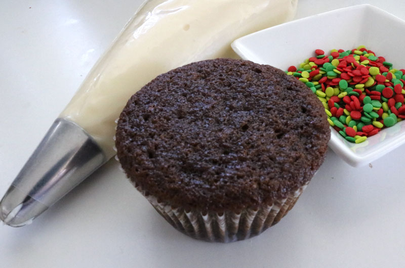 Brownie Gingerbread Cupcakes