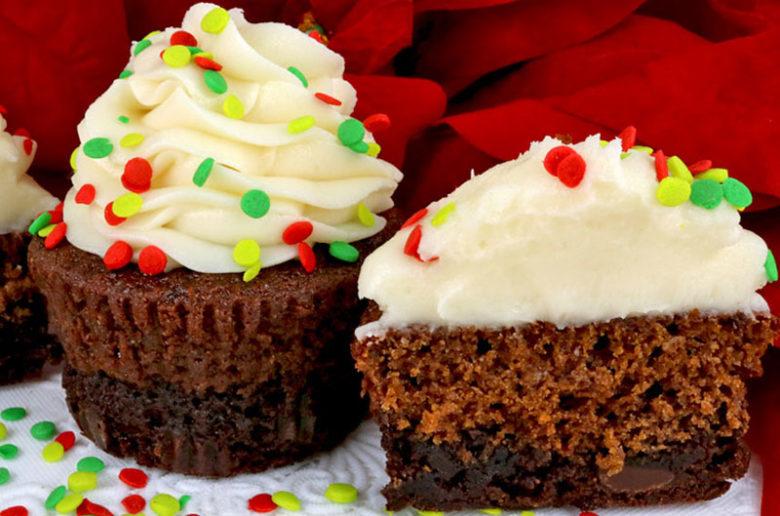 Brownie Gingerbread Cupcakes