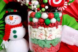 Christmas Candy Centerpiece