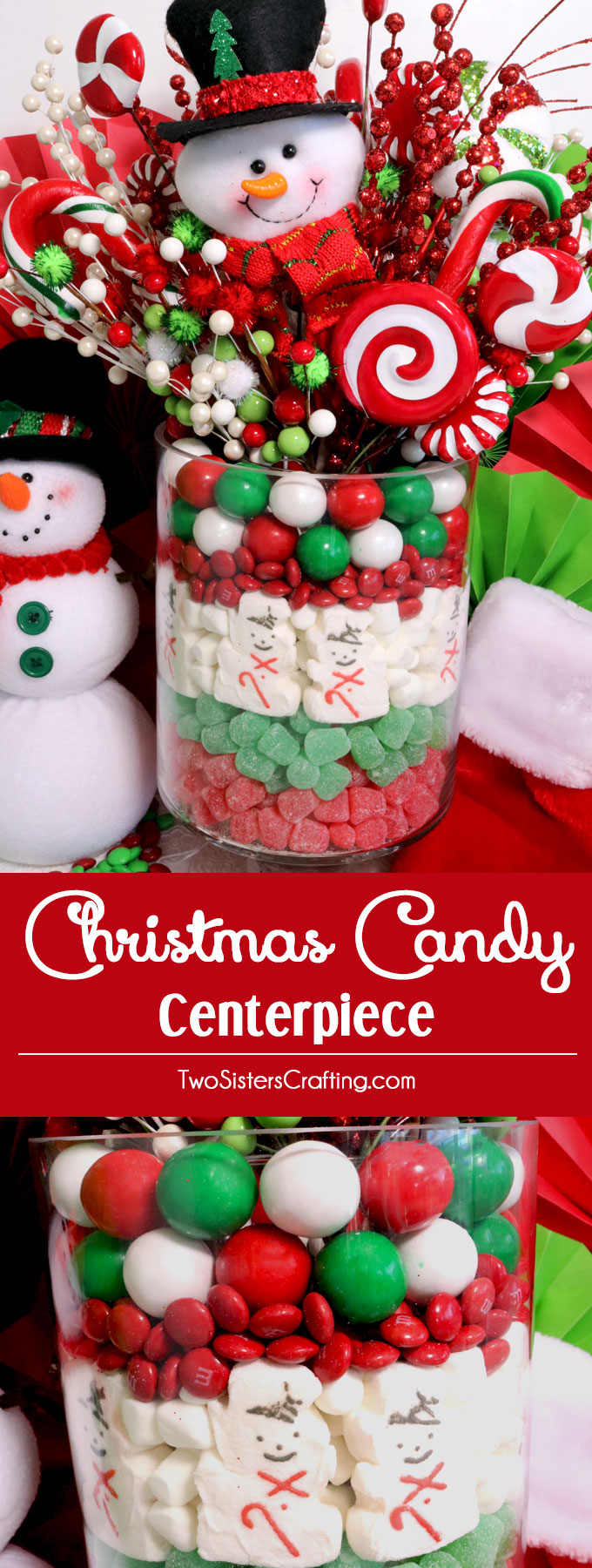 Christmas candy centerpiece two sisters