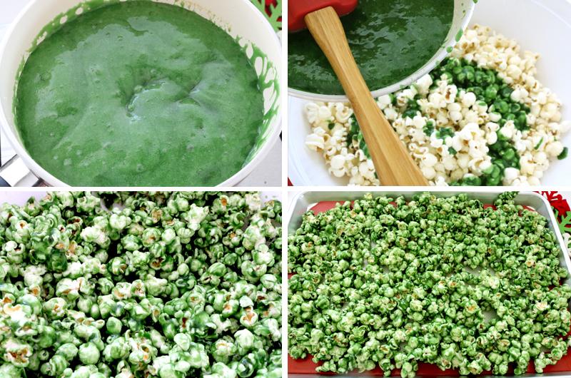 Make a second batch of Green Christmas Caramel Corn