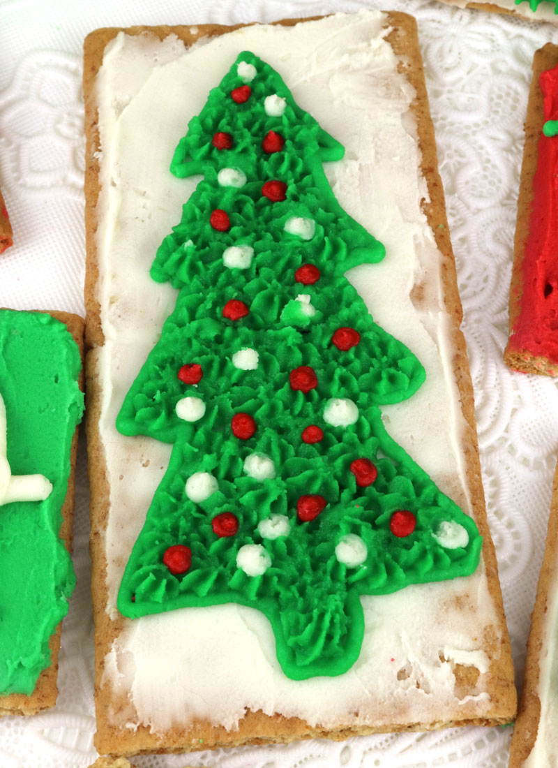 christmas frosted graham crackers two sisters crafting