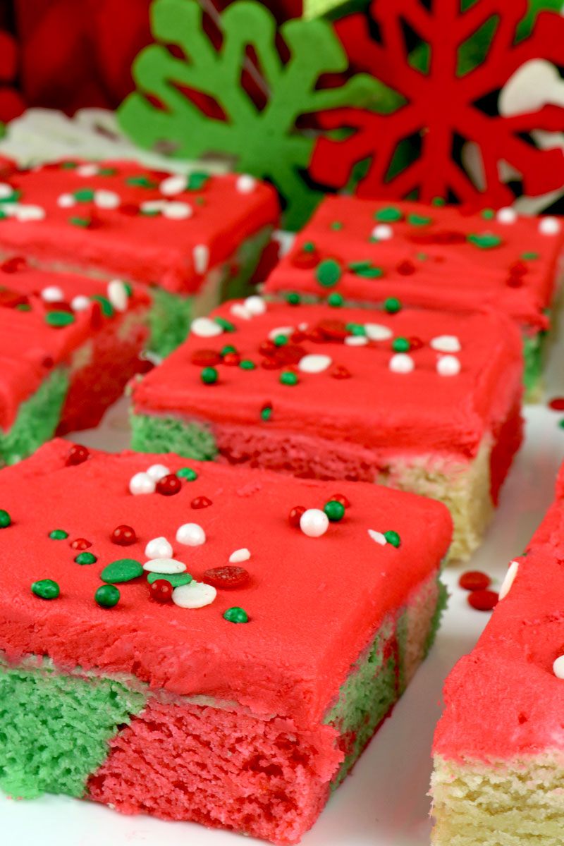 Christmas Marble Sugar Cookie Bars Two Sisters