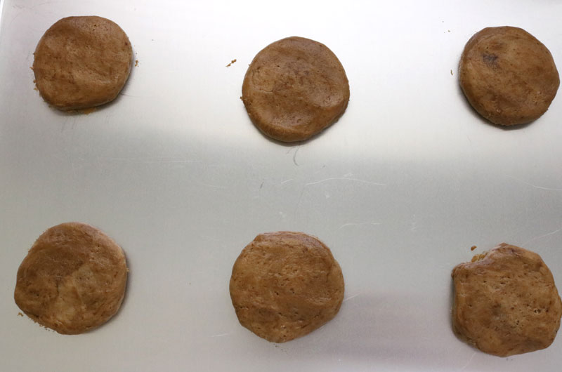 Coffee Cookies ready for the oven