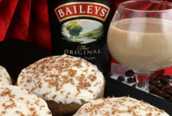 Coffee Cookies with Baileys Frosting