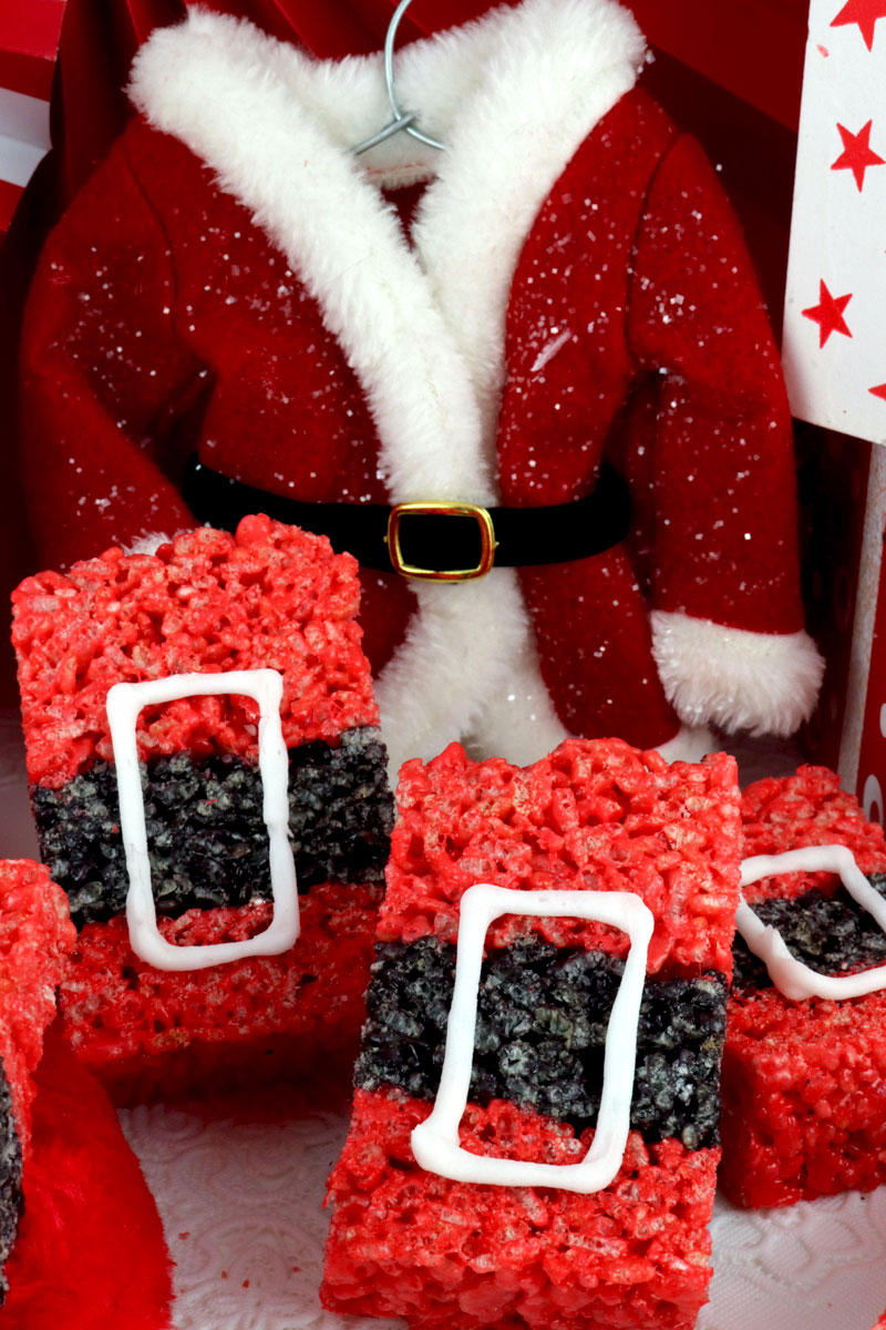Santa Claus Rice Krispie Treats Two Sisters