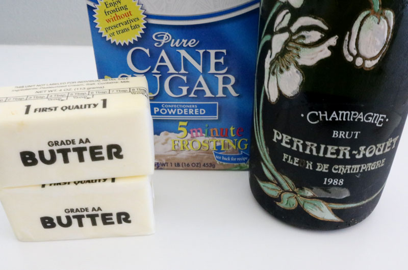 Ingredients for Champagne Buttercream Frosting