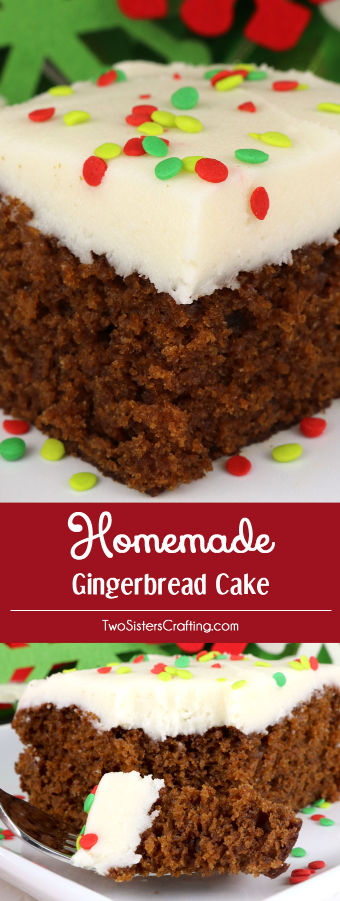 homemade gingerbread cake a classic christmas cake recipe topped with our super delicious best cream