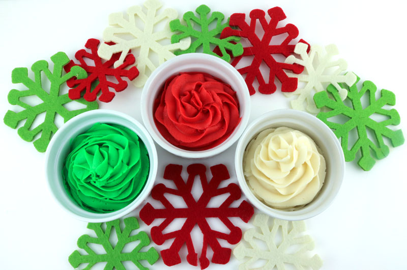Christmas Green And Red.How To Make Christmas Frosting Two Sisters