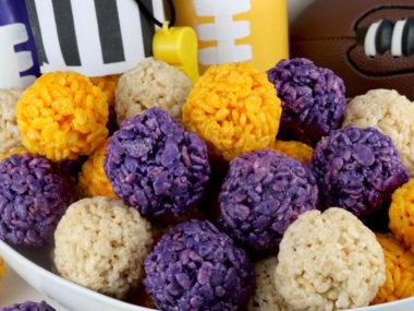 Minnesota Vikings Rice Krispie Bites