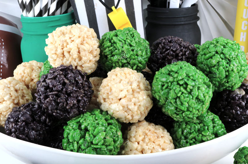 Philadelphia Eagles Rice Krispie Bites Two Sisters