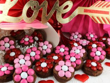 Valentine's Day Flower Cookie Bites