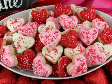 Valentine's Heart Sugar Cookie Bites