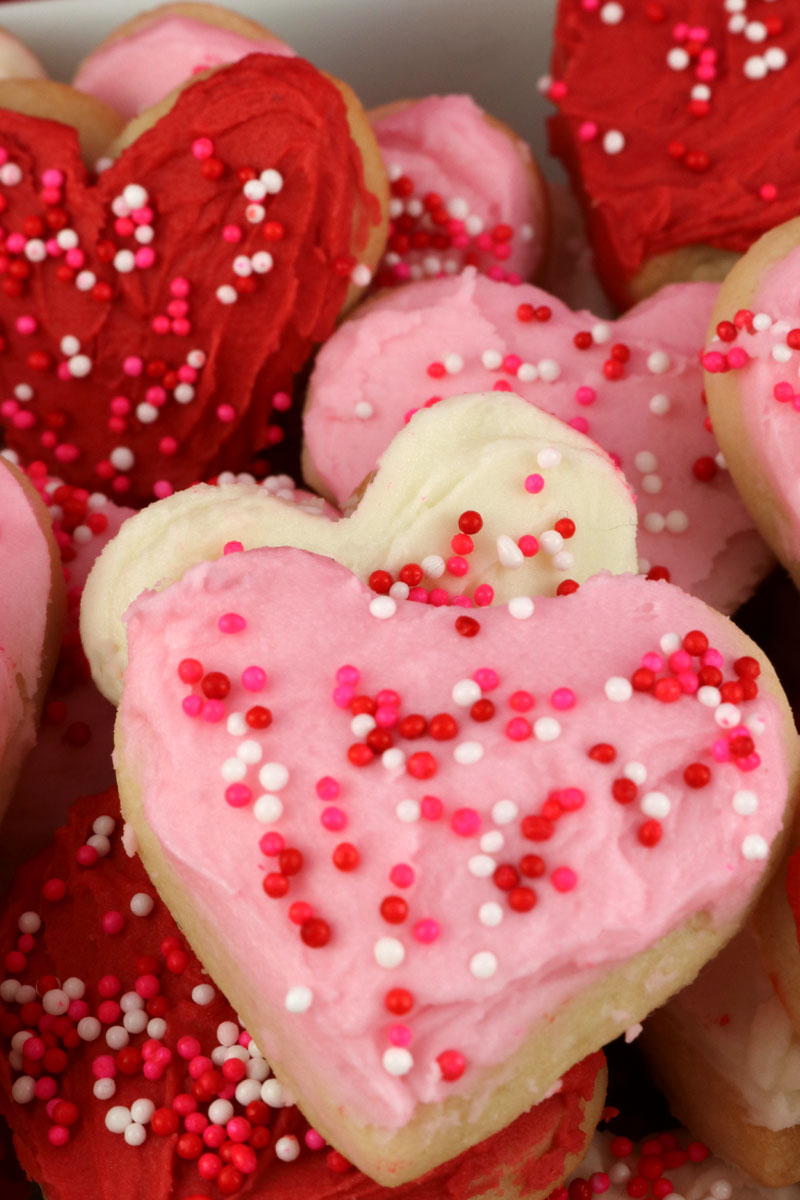Valentine S Heart Sugar Cookie Bites Two Sisters