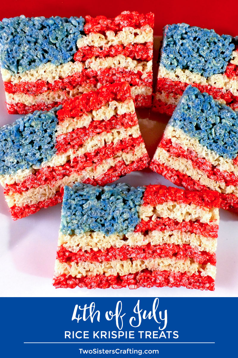 4th Of July Rice Krispie Treats Two Sisters