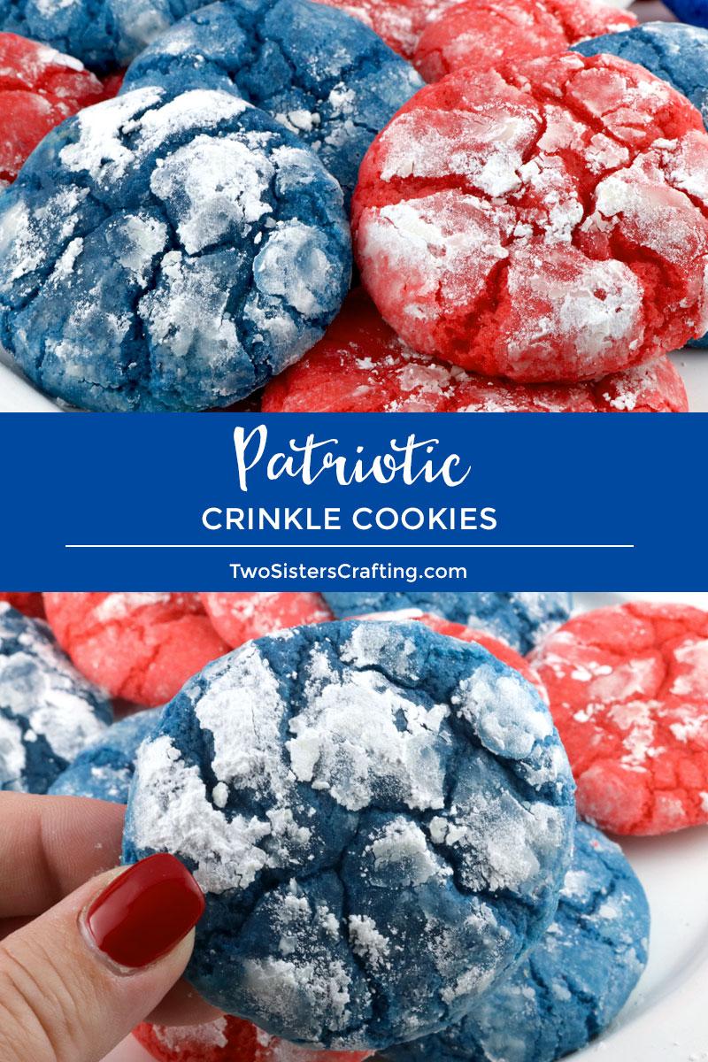 Patriotic Crinkle Cookies Two Sisters