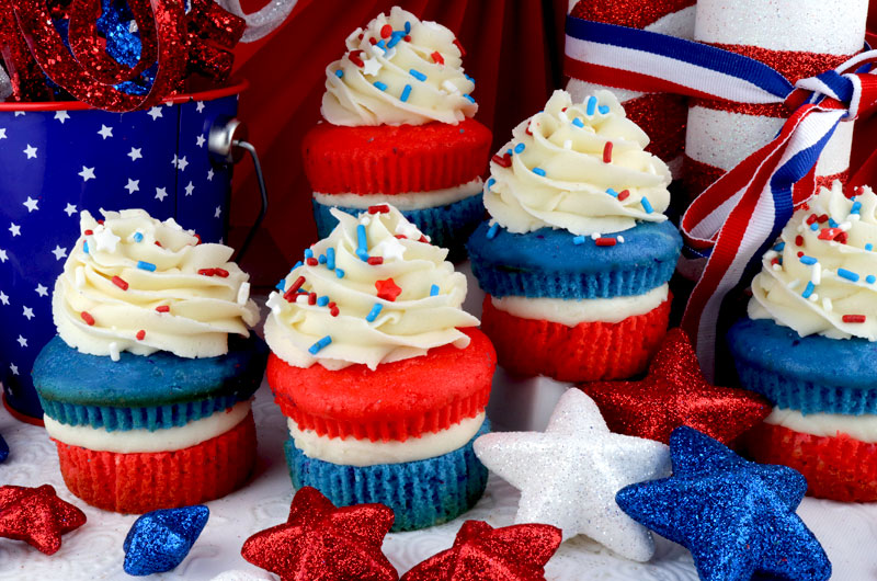 Red White And Blue Cupcakes Two Sisters