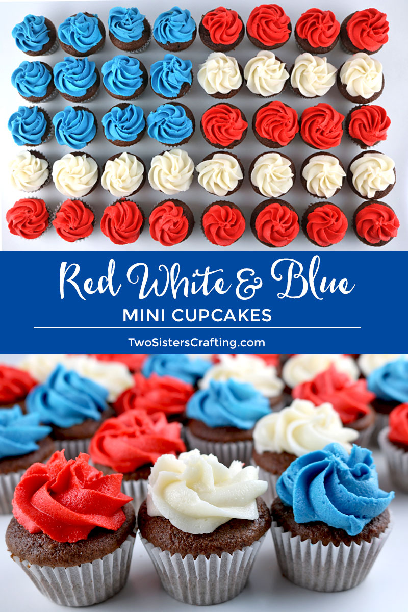56b1ce0942c These fun and patriotic Red White and Blue Mini Cupcakes will be everyone s  favorite 4th of