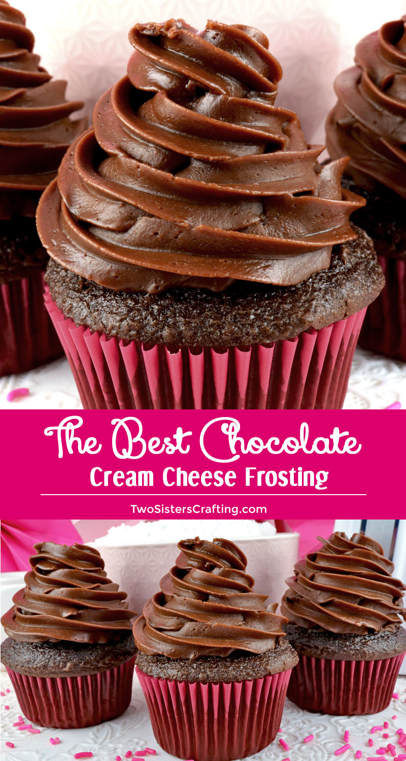 The Best Chocolate Cream Cheese Frosting Two Sisters