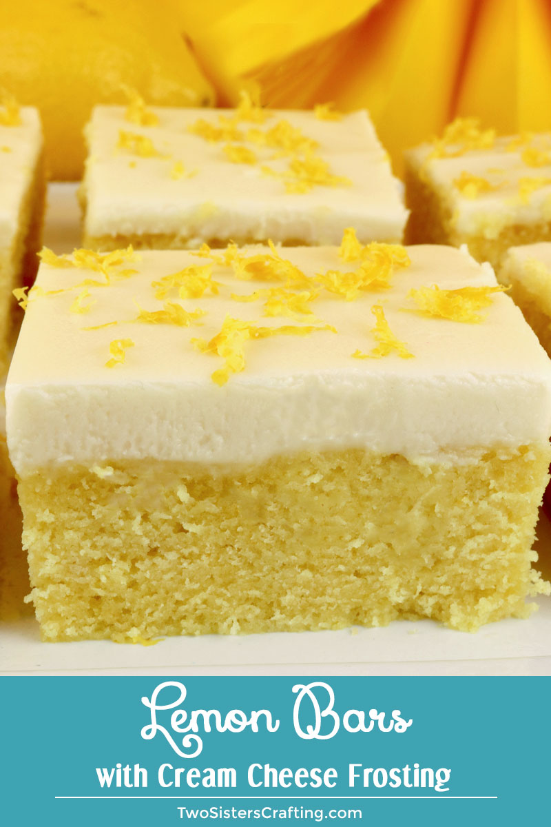 Lemon Bars With Cream Cheese Frosting Two Sisters