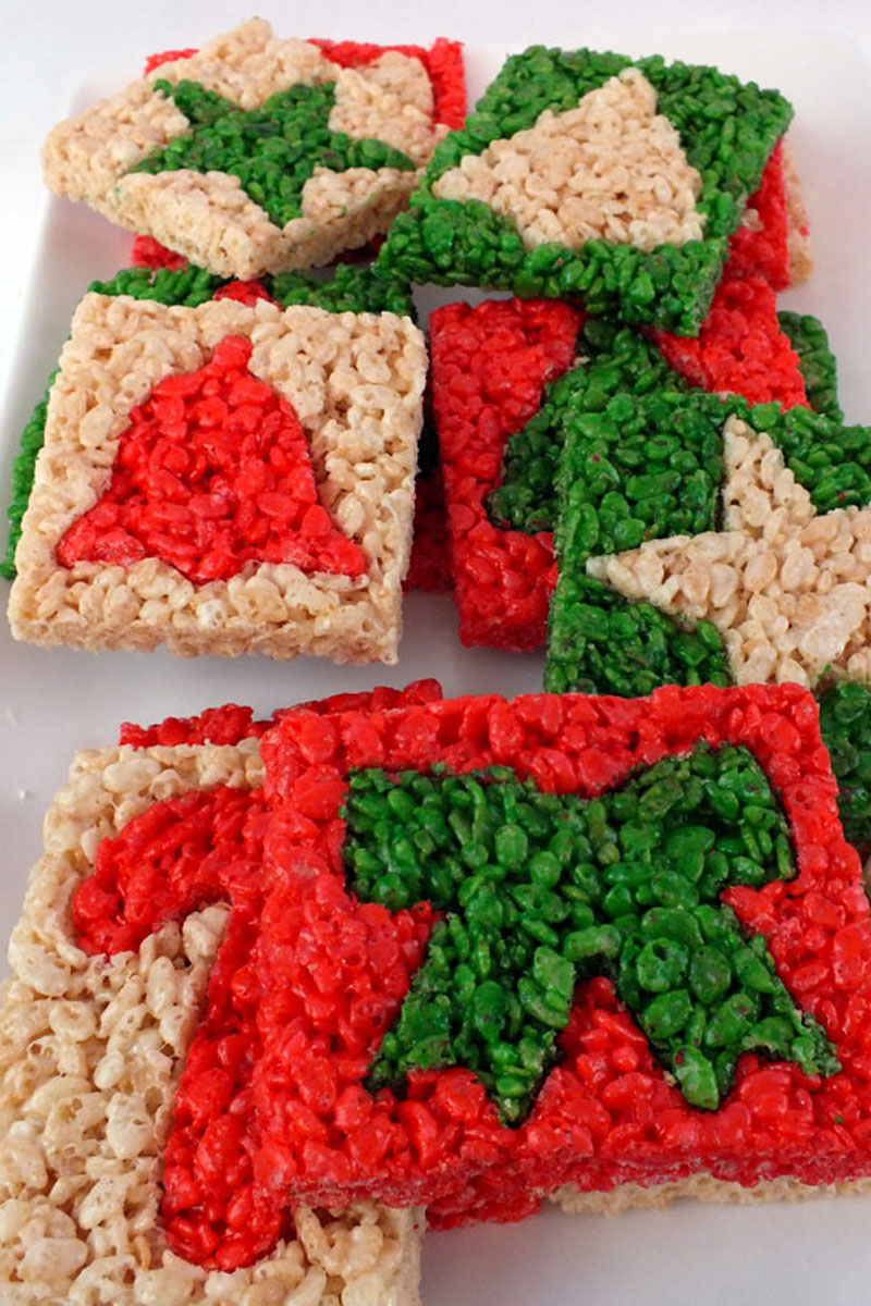 Christmas Treats For School Parties.Our Best Christmas Rice Krispie Treats Two Sisters