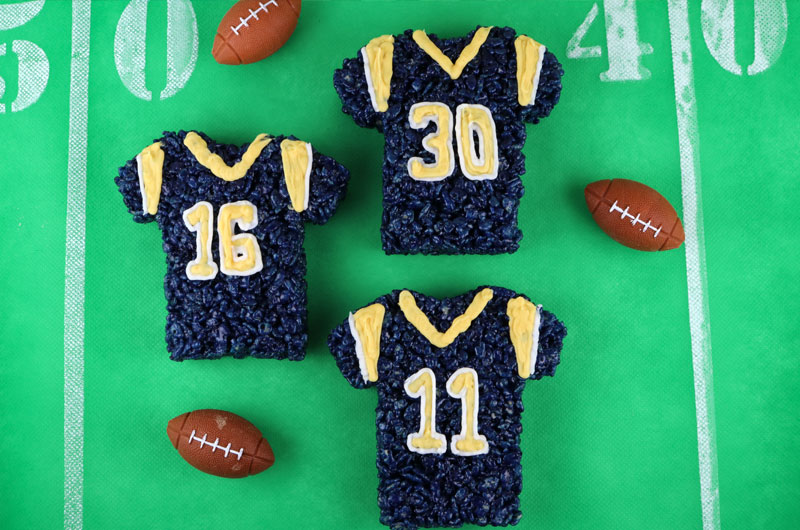 8fa4179abef These Los Angeles Rams Rice Krispie Treats Team Jerseys are a fun football  dessert for a